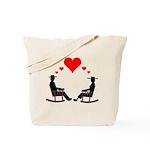 Hearts Rock Tote Bag