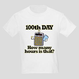 100th Day Calculator Kids Light T-Shirt