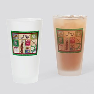 Golf Collage Drinking Glass