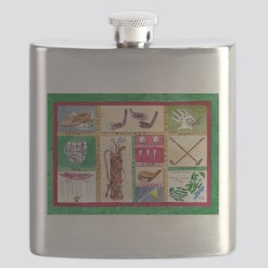 Golf Collage Flask