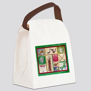 Golf Collage Canvas Lunch Bag