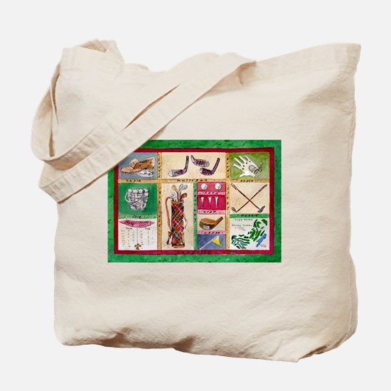 Golf Collage Tote Bag