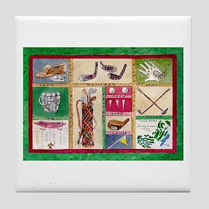 Golf Collage Tile Coaster