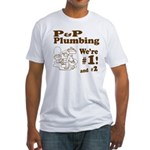 P P Plumbing Fitted T-Shirt