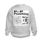 P P Plumbing Kids Sweatshirt