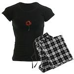 Red Himawari - Zen Sunflower Women's Dark Pajamas