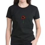 Red Himawari - Zen Sunflower Women's Dark T-Shirt