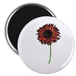 Red Himawari - Zen Sunflower Magnet