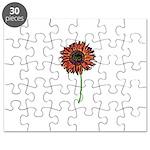 Red Himawari - Zen Sunflower Puzzle