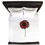 Red Himawari - Zen Sunflower King Duvet
