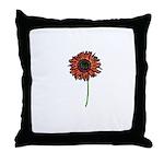 Red Himawari - Zen Sunflower Throw Pillow
