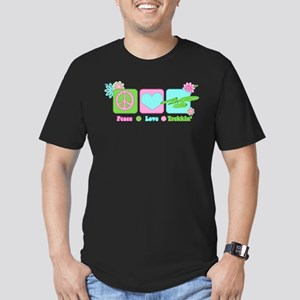 Peace Love NCC-1701 Men's Fitted T-Shirt (dark)