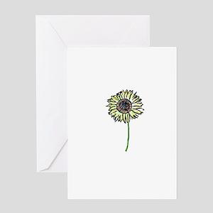 Himawari - Zen Sunflower Greeting Card