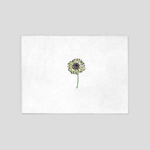 Himawari - Zen Sunflower 5'x7'Area Rug