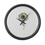 Himawari - Zen Sunflower Large Wall Clock