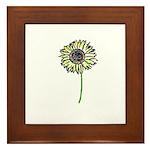 Himawari - Zen Sunflower Framed Tile