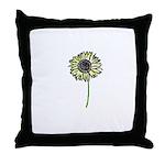 Himawari - Zen Sunflower Throw Pillow