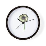 Himawari - Zen Sunflower Wall Clock
