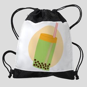 Boba Tea Moon Drawstring Bag