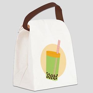 Boba Tea Moon Canvas Lunch Bag