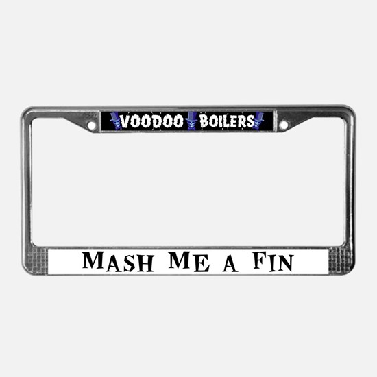 Mash Me a Fin License Plate Frame