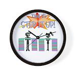 Step it up - Step Aerobics Wall Clock