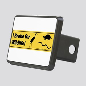 I Brake for Wildlife Rectangular Hitch Cover