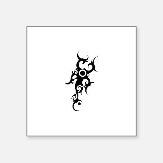 "Tribal Scorpion Square Sticker 3"" x 3"""
