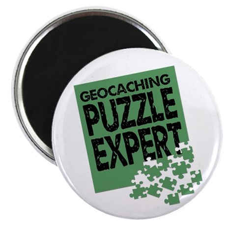 Geocaching Puzzle Expert Magnet