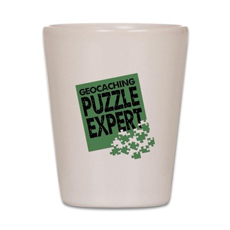 Geocaching Puzzle Expert Shot Glass