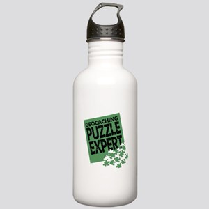Geocaching Puzzle Expert Stainless Water Bottle 1.