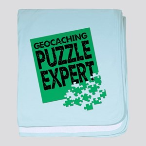 Geocaching Puzzle Expert baby blanket