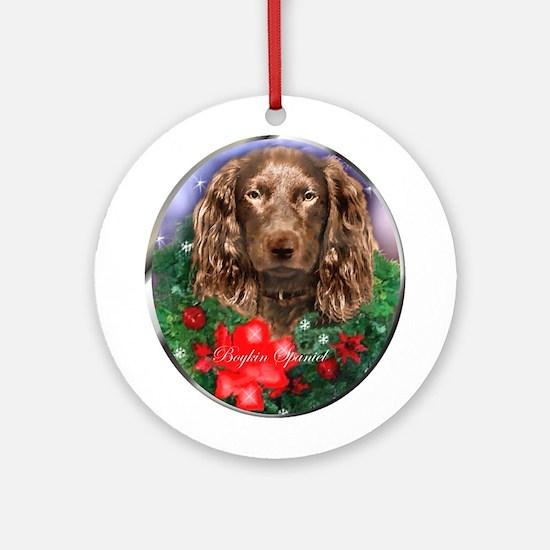 Boykin Spaniel Christmas Round Ornament