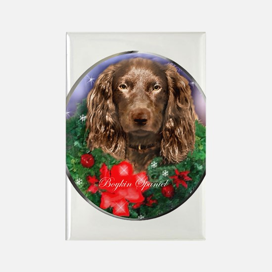 Boykin Spaniel Christm Rectangle Magnet (100 pack)