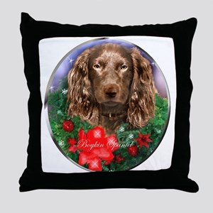 Boykin Spaniel Christmas Throw Pillow