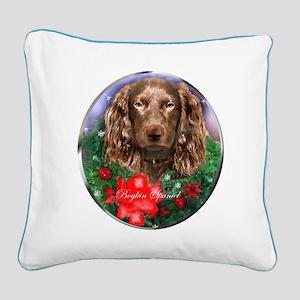 Boykin Spaniel Christmas Square Canvas Pillow