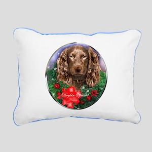 Boykin Spaniel Christmas Rectangular Canvas Pillow