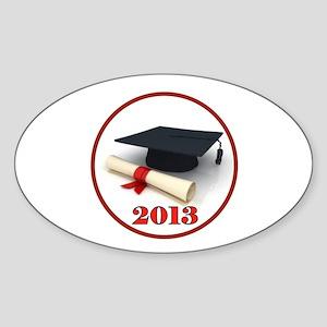 GRADUATE 2013 Sticker (Oval)