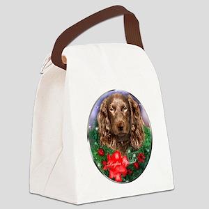 Boykin Spaniel Christmas Canvas Lunch Bag