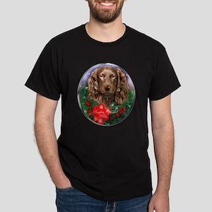 Boykin Spaniel Christmas Dark T-Shirt