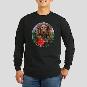 Boykin Spaniel Christmas Long Sleeve Dark T-Shirt