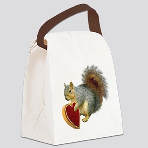 Squirrel Valentine Canvas Lunch Bag