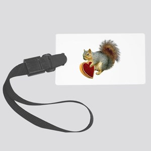 Squirrel Valentine Large Luggage Tag