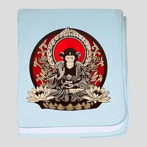 Zen Chimp baby blanket