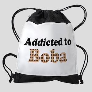 Addicted to Boba Drawstring Bag