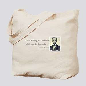 Quotable Abraham Lincoln Tote Bag