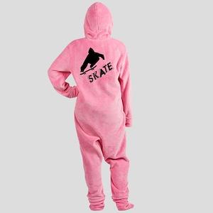 Skate Ollie Sillhouette Footed Pajamas
