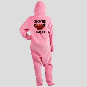 Skate Hard Shoes Cartoon Footed Pajamas