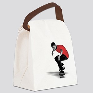 skater_ red Canvas Lunch Bag