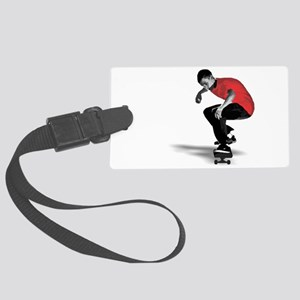 skater_ red Large Luggage Tag